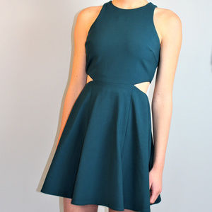 NEW green Elizabeth and James cut-out dress mini
